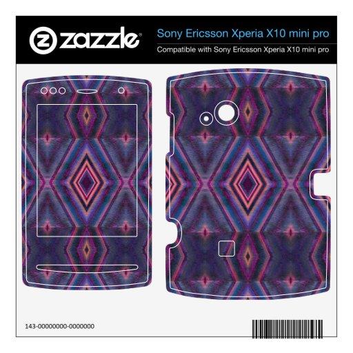 Stylish purple pink pattern xperia x10 skin
