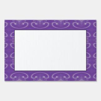 Stylish Purple Swirl Pattern Sign