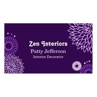 Stylish Purple Tones Floral Business Card