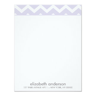 Stylish Purple Zig Zag Chevron Pattern Note Cards