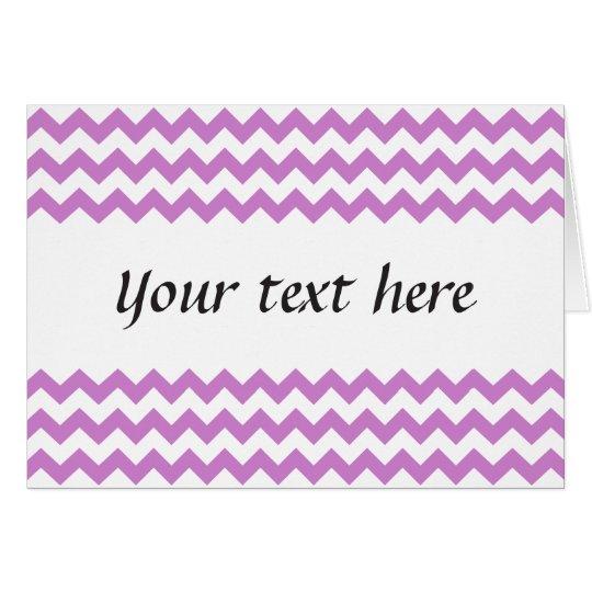 Stylish purple zig zags zigzag chevron pattern card