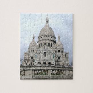 Stylish Puzzle with Sacre Coeur de Paris