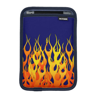 Stylish Racing Flames Fire on Navy Blue iPad Mini Sleeves