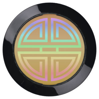 Stylish Rainbow Modern Longevity Motif Geometric USB Charging Station