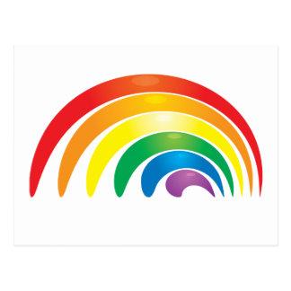 Stylish Rainbow Postcard