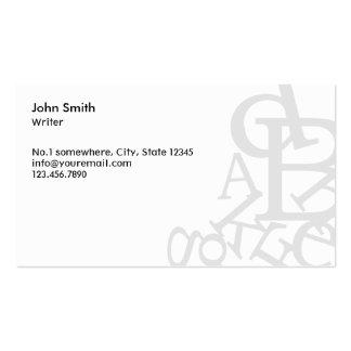 Stylish Random Words Writer/Editor Business Card