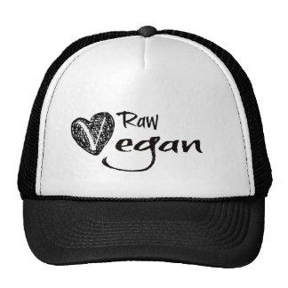 Stylish Raw Vegan Heart Trucker Hat