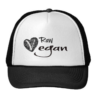 Stylish Raw Vegan Heart Trucker Hat