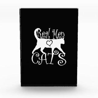 Stylish Real Men Love Cats Acrylic Award