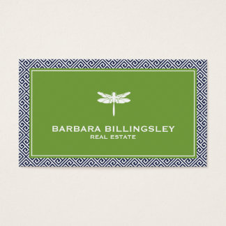 Stylish Realtor, Interior Designer Dragonfly Business Card