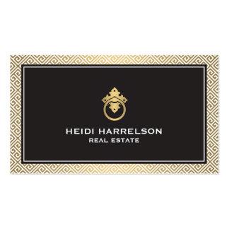 Stylish Realtors Modern Glamour Business Card II