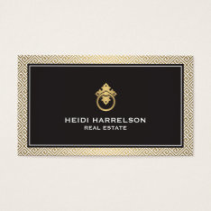 Stylish Realtors Modern Glamour Business Card Ii at Zazzle