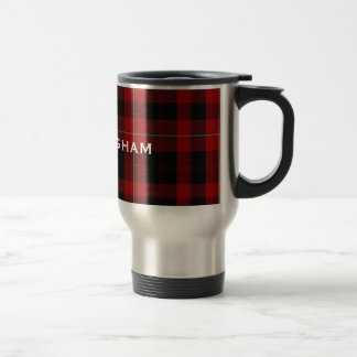 Stylish Red and Black Cunningham Plaid Mug