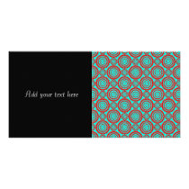 Stylish Red and Turquoise Modern Pattern Card