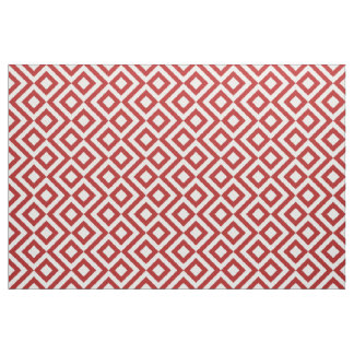 Stylish Red and White Meander Fabric