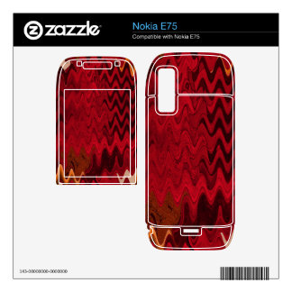 stylish red black abstract background skins for the nokia e75