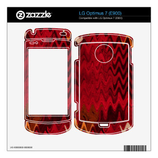 stylish red black abstract background skin for the LG optimus 7