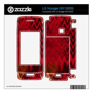 stylish red black abstract background decal for LG voyager