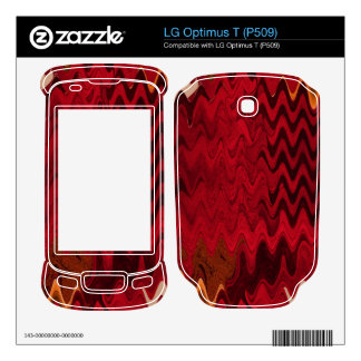 stylish red black abstract background decal for LG optimus t