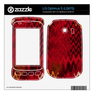 stylish red black abstract background skin for LG optimus s
