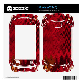 stylish red black abstract background skin for the LG ally