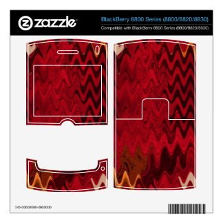 stylish red black abstract background decal for BlackBerry 8800