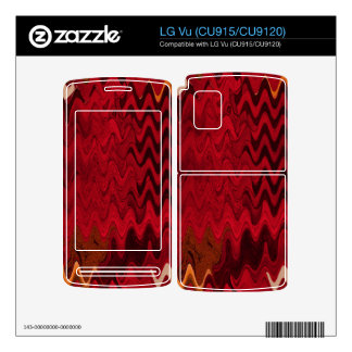 stylish red black abstract background skin for LG vu