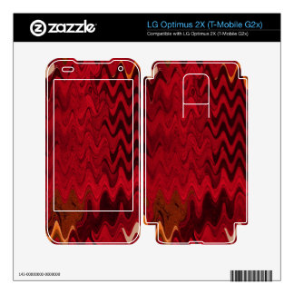 stylish red black abstract background decals for LG optimus 2X