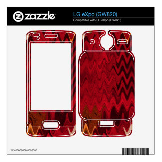 stylish red black abstract background skin for the LG eXpo