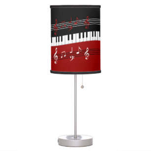 red black and white lamps stylish red black white piano keys and notes desk lamp and table pendant lamps zazzle