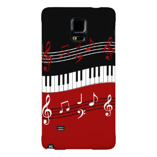 Stylish Red Black White Piano Keys and Notes Galaxy Note 4 Case