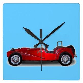 stylish red car
