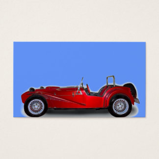 stylish red car business card