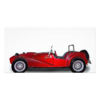 stylish red car card