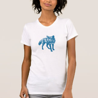 Stylish Red Fox in Blue Tees