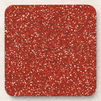 Stylish   Red Glitter Coaster
