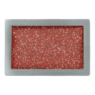 Stylish  Red Glitter Rectangular Belt Buckle