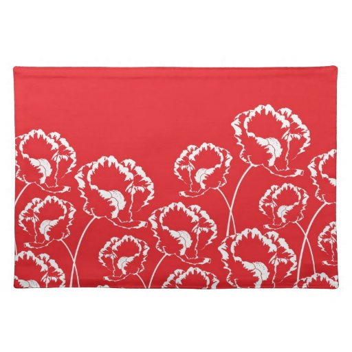 Stylish Red Poppy Placemat