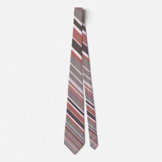 Stylish Red Stripes Tie