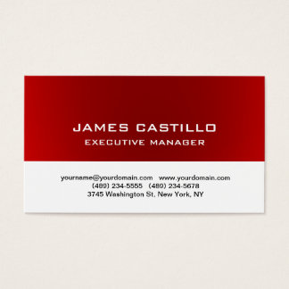 Stylish Red White Unique Modern Professional Business Card