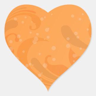Stylish reddish swirls heart sticker