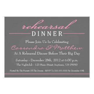 Stylish Rehearsal Dinner Invitations (Pink)