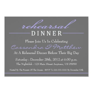 Stylish Rehearsal Dinner Party Invitation (Purple)
