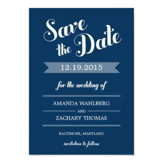 Stylish Reminder Wedding Save The Date Card