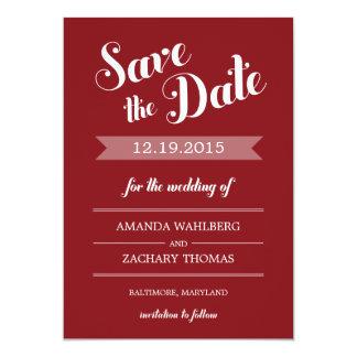"Stylish Reminder Wedding Save The Date Card 5"" X 7"" Invitation Card"