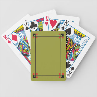 Stylish Retro Geometric Frame Deck Playing Cards