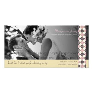 Stylish Retro Vintage Art Deco Wedding Thank You Photo Card