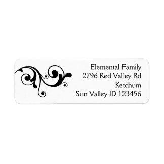 Stylish return address label