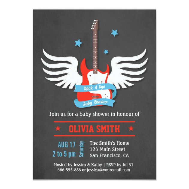 Rock A Bye Baby Shower Invitations for perfect invitation design