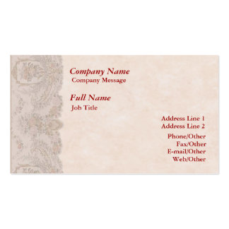 Stylish Rose Border Business Card Template